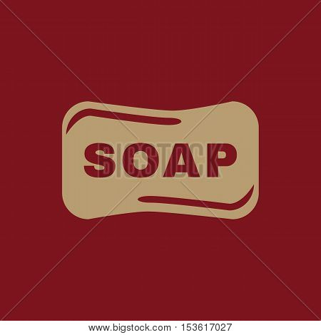 The soap icon.  Soap symbol. Flat Vector illustration
