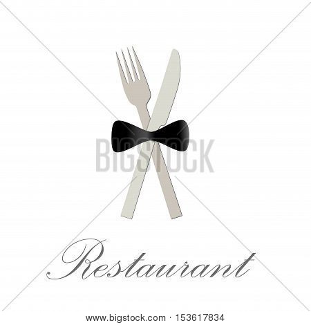 Vector sign restaurant deluxe concept, isolated illustration