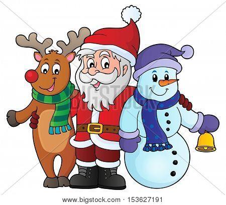 Christmas characters theme image 1 - eps10 vector illustration.