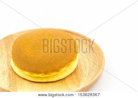 Dorayaki japanese snack dorayaki is a japanese bread japanese pancakes on white background.