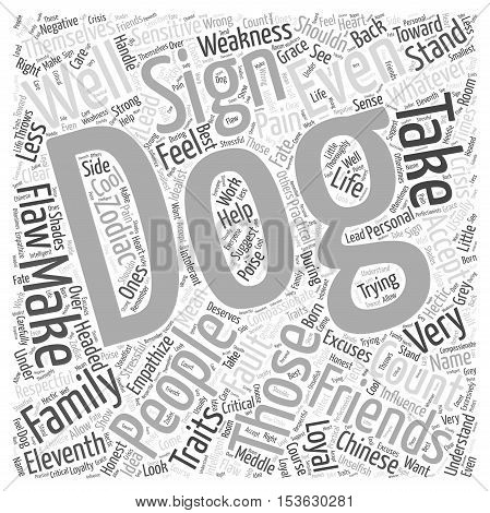 Traits of the Dog word cloud concept