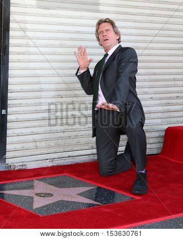LOS ANGELES - OCT 25:  Hugh Laurie at the Hugh LaurieHollywood Walk of Fame Star Ceremony at the Hollywood Blvd. on October 25, 2016 in Los Angeles, CA