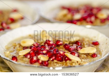 Turkish dessert  Ashura which is called Noah's pudding.