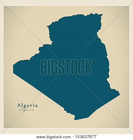Modern Map - Algeria DZ Algeria vector