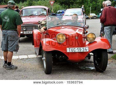 RATIBORICE, CZECH REPUBLIC - AUGUST 7: IX. Vintage car show - Tatra 1930s. August 7, 2010 in Ratiborice Castle, Czech Republic
