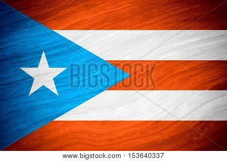 flag of Puerto Rico or Puerto Rican banner on abstract background