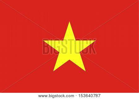 Official vector flag of Vietnam . Socialist Republic of Vietnam