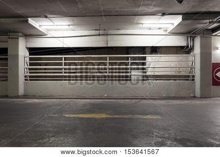 Car Parking garage in Department store interior