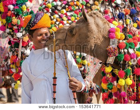 Traditional Camel Decoration Competition At Camel Mela In Pushkar