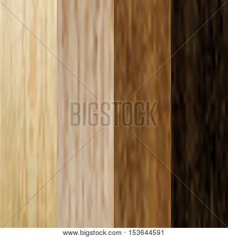 Set the boards of various wood. Pine, oak, hornbeam. Laminated flooring. Wooden background. Wood texture. vector illustration