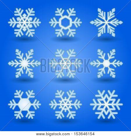 Blue Snowflakes.