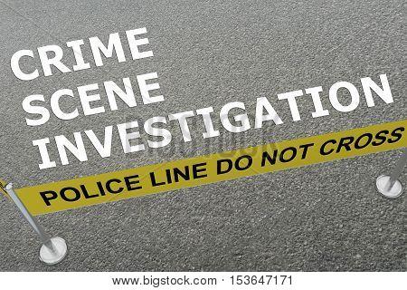Crime Scene Investigation Concept
