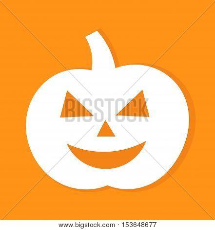 Jack o lantern halloween pumpkin. Flat design illustration