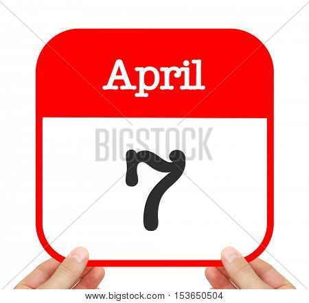 April 7 written on a calendar