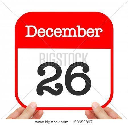 December 26 written on a calendar