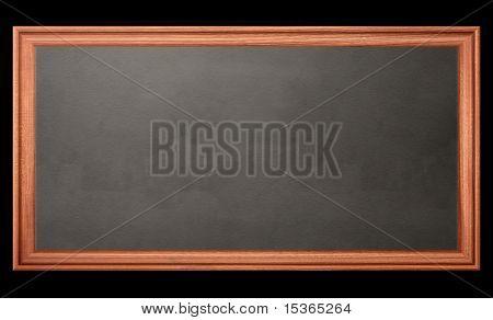 Blackboard on black. Illustration created on computer.