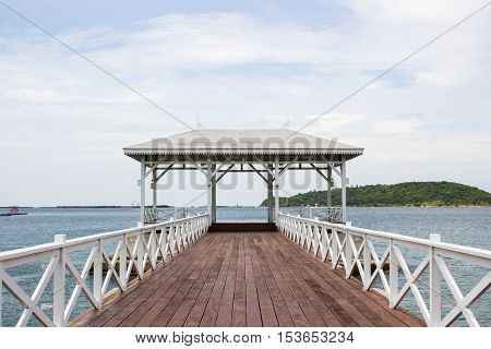 Asadang Bridge Pier at Koh Sichang Chonburi Thailand