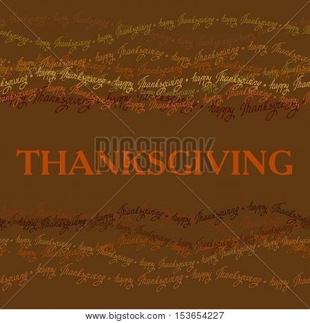 Happy Thanksgiving day horizontal frame with happy thanksgiving text line seamless border. Good wishes for grateful cards. Vector illustration stock vector.