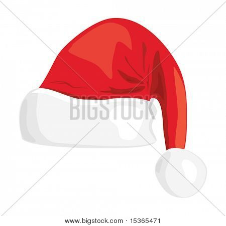 Santa hat illustration.