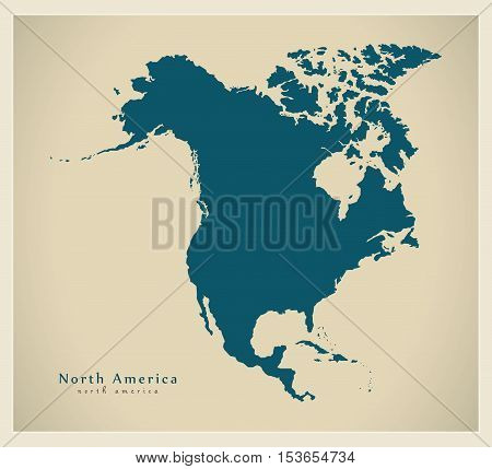 Modern Map - North America Map Complete