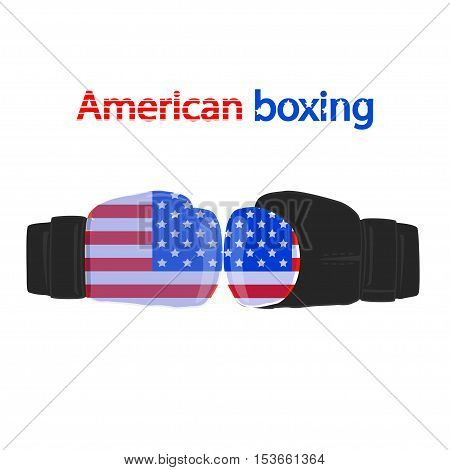 sports boxing gloves on a white background.