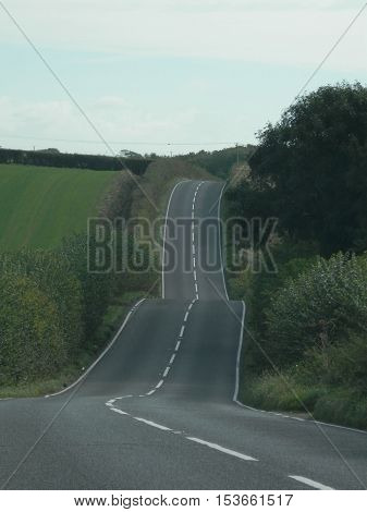 Hilly Country Road