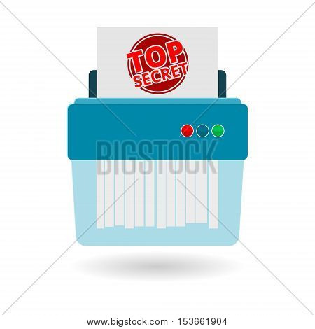 Shredder icon on white background, vector illustration