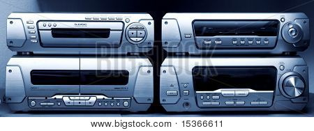 Big audio system. With blue tint.