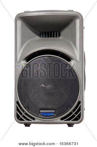 Big loud speaker. Isolated on white.