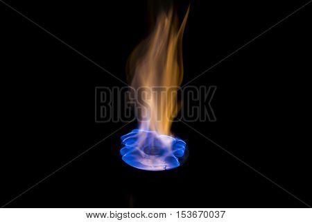 Burning Cd Blue Flame
