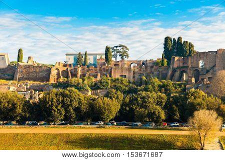 Roman Forum in Circus Maximus, Rome, Italy