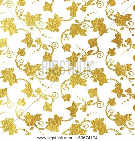 Flower Golden Foil Design