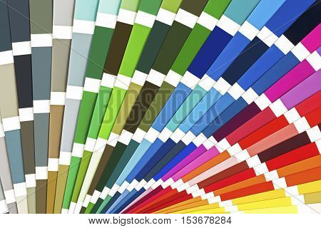Rainbow Sample Colors Catalog. Color Guide Palette Background.