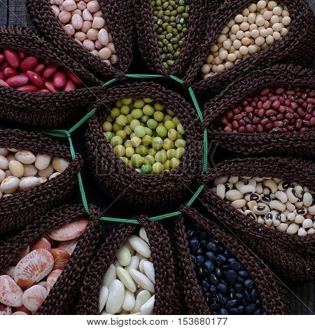 Collection Of Bean, Fiber Food Make Heart Health