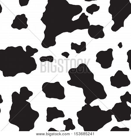 Cow and Dalmatian dog seamless pattern, spot background, vector illustration