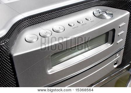 Modern audio system silver control board.