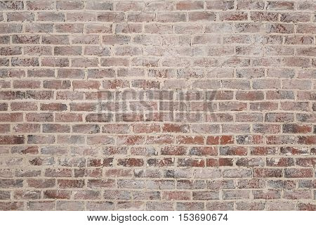 Vintage red brick wall texture for a grunge background