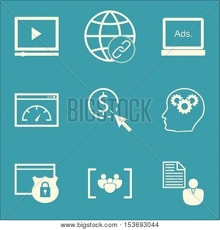 Set Of Advertising Icons On Questionnaire, Ppc And Report Topics. Editable Vector Illustration. Incl