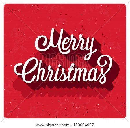 Merry Christmas creative greeting card. Vector illustration.