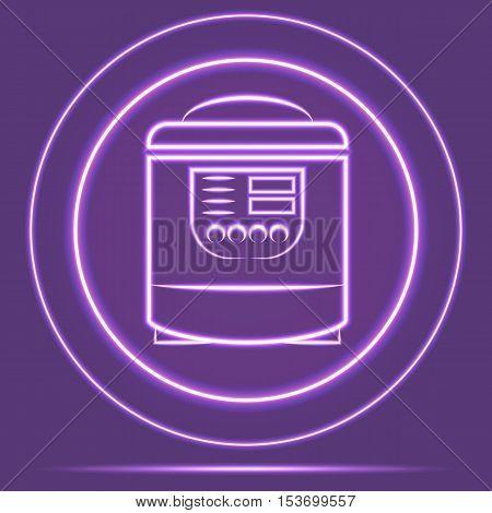 Futuristic Neon Glowing Shaver Icon Sensor style. Vector EPS 10