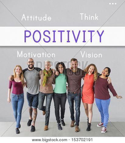 Positivity Simplify Attitude Motivation Concept poster