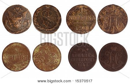 Antique Coins Of Russia 1773-1841 Years