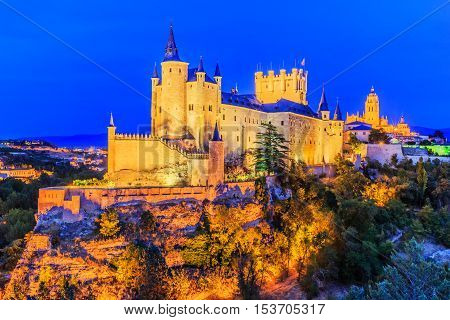 Segovia, Spain. The Alcazar of Segovia. Castilla y Leon.