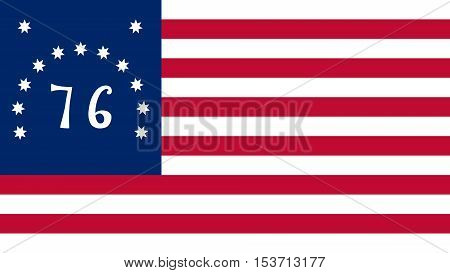 The Bennington flag is a version of the American flag associated with the American Revolution Battle of Bennington from which it derives its name.