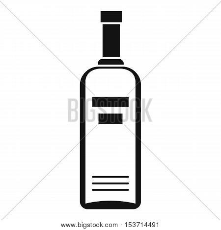Bottle of vodka icon. Simple illustration of bottle of vodka vector icon for web