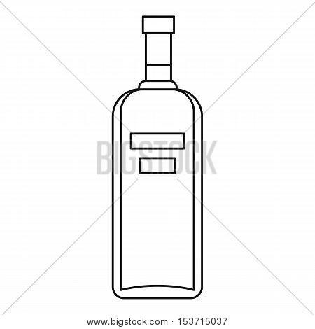 Bottle of vodka icon. Outline illustration of bottle of vodka vector icon for web