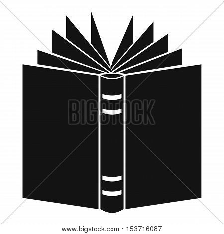 Open thick book icon. Simple illustration of open thick book vector icon for web