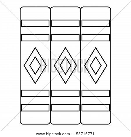 Three literary books icon. Outline illustration of three literary books vector icon for web