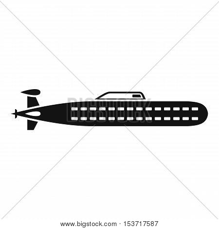 Submarine icon. Simple illustration of submarine vector icon for web