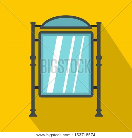 Advertising sign icon. Flat illustration of advertising sign vector icon for web